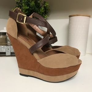 Suede Qupid Wedges